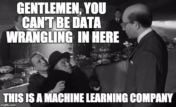 Stop data wrangling love machine learning